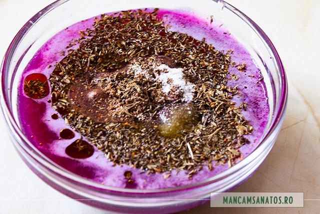 ingrediente pentru dressing aperitriv raw vegan, vrajitoare pentru Halloween