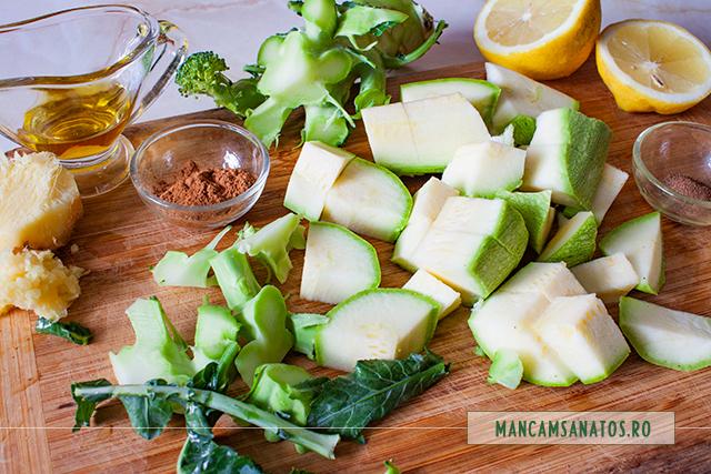 ingrediente pentru broccoli in sos de dovlecel cu mirodenii