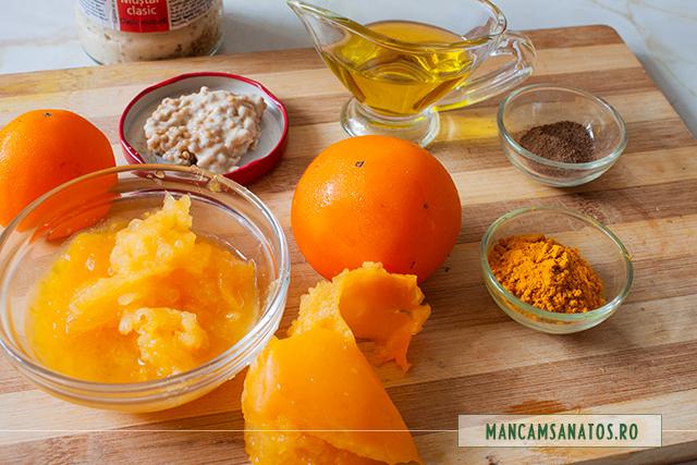 ingrediente pentru sos de rosii galbene si condimente pentru salata de sfecla rosie si telina
