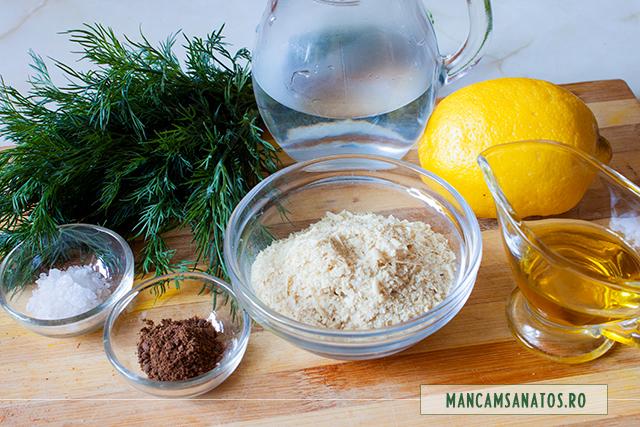 ingrediente pentru sos de marar si drojdie inactiva