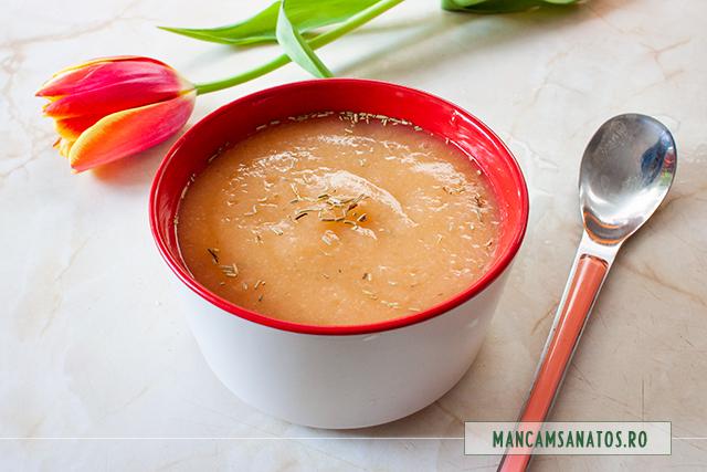 supa crema de telina, cu ghimbir si rozmarin