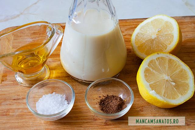 ingrediente pentru dressing din lapte de soia
