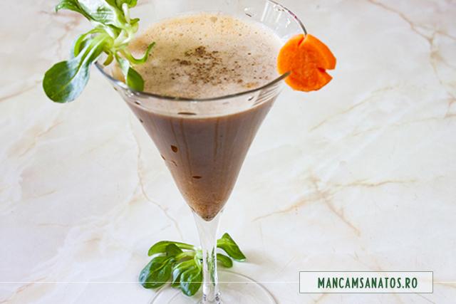 cocktail de legume, cu suc de rosii, valeriana si piper