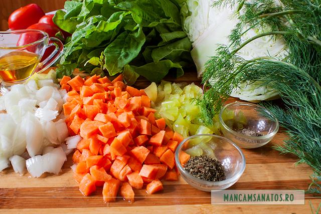 ingrediente pentru ciorba deasa de varza dulce, cu loboda verde si marar