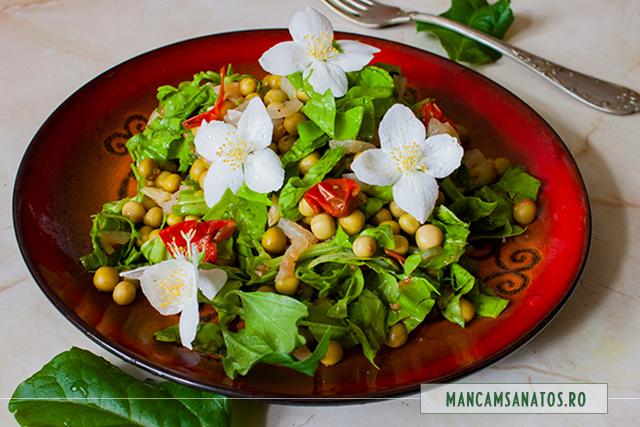 mazare, cu loboda verde si flori de iasomie