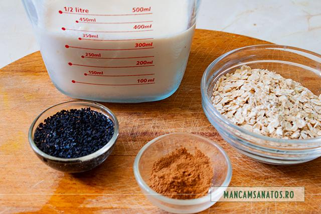 ingrediente pentru bautura proteica si antioxidanta, cu lapte de soia