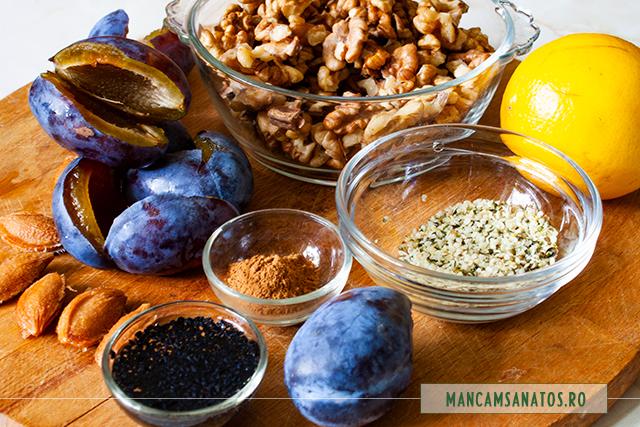 ingrediente pentru tablete proteice, raw vegane, pentru Halloween