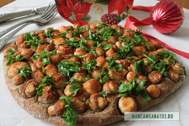ciuperci,  in aluat integral cu morcovi si mirodenii