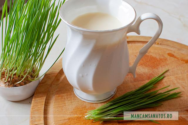 ingrediente pentru lapte de soia, cu grau incoltit