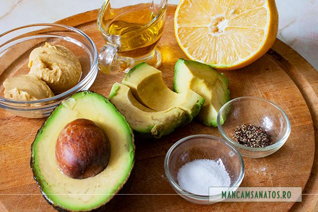 ingrediente pentru maioneza raw vegana, de avocado