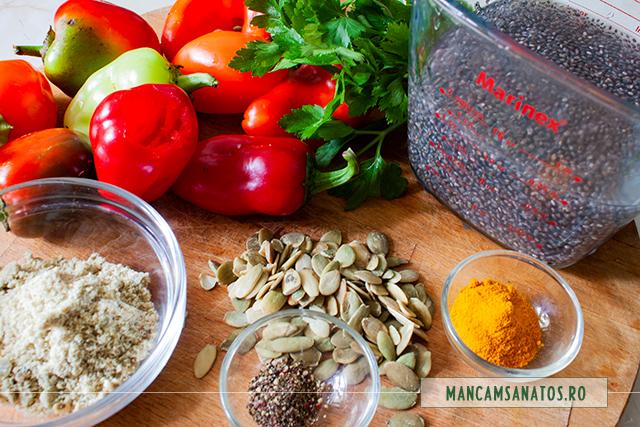 ingrediente pentru mini ardei, umpluti cu seminte aromatizate