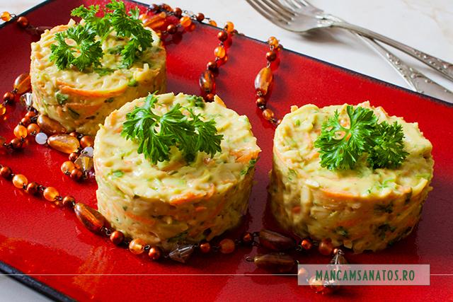 salata de cruditati, cu maioneza raw vegana de avocado
