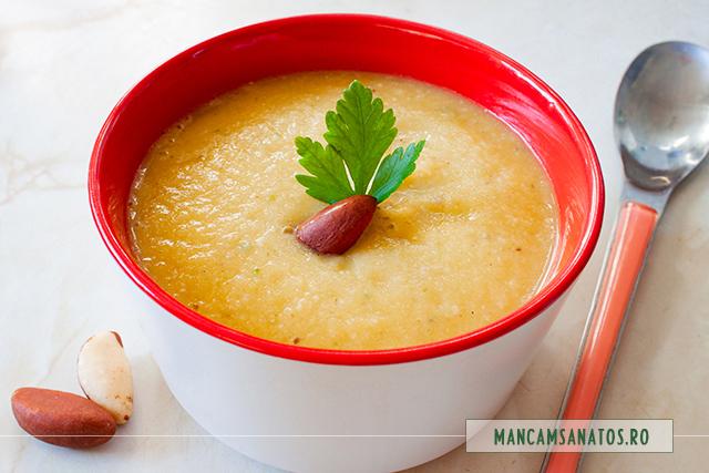 supa crema de telina, cu nuci braziliene